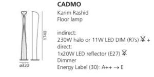 Stojací lampa Artemide Cadmo Terra bílá small 1