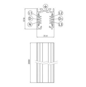 Přípojnice EUROSTANDARD PLUS, délka 200 cm (EN5) šedá small 1