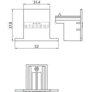 9004-R / B STUCCHI nerezová zapuštěná montážní deska small 1