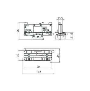 DALI 9009 / W Vázací adaptér STUCCHI s bílým, černým a šedým voličem fází small 1