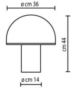 Bílá stolní lampa Onfale Grande Artemide small 1