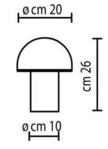 Onfale Piccolo Artemide bílá stolní lampa small 1