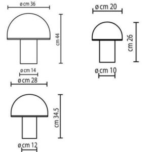 Onfale Piccolo Artemide bílá stolní lampa small 0