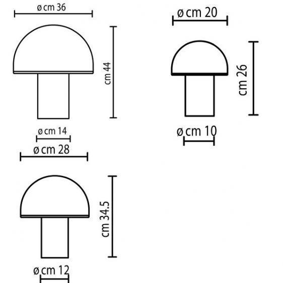 Onfale Piccolo Artemide bílá stolní lampa