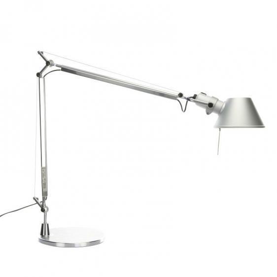 Stolní lampa Artemide Tolomeo Aluminium A001000 + A004030