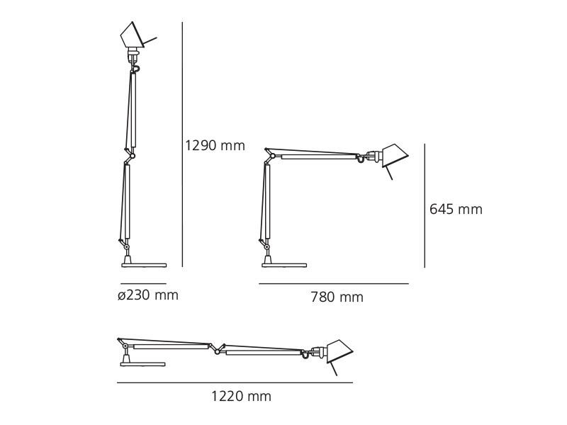 Stolní lampa Artemide Tolomeo A004420 bílá