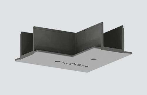 Kryt konektoru na lištu typu L pro zapuštěnou kolejnici černý ONETRACK Stucchi