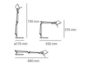 Artemide Tolomeo Micro 0011820A stolní lampa small 1