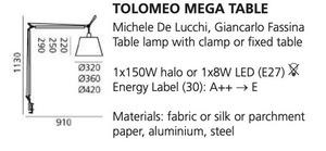Stolní svorka Artemide TOLOMEO Mega (pergamenový kryt ø32cm) small 1