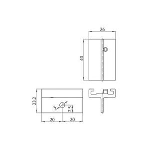 STUCCHI krátký držák, hliník, černý, bílý small 1
