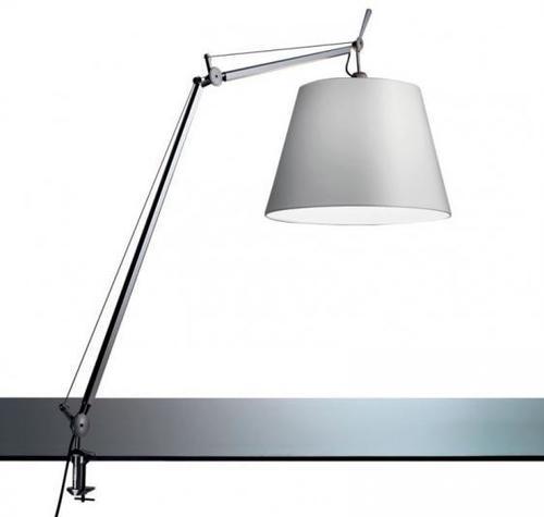Lampa biurkowa zaciskowa Led Artemide TOLOMEO (klosz satynowy ø32cm) 1