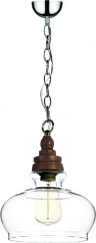 Lampa wisząca Edvin na łańcuszku szklany klosz 40W