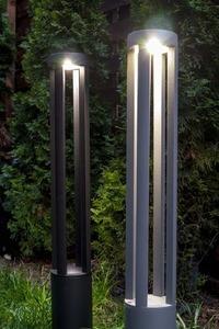 Šedá kovová svítilna LED Windmill Post 80cm 10W 6400K / 4000K / 2700K small 9