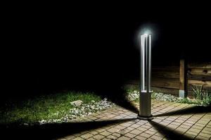 Šedá kovová svítilna LED Windmill Post 80cm 10W 6400K / 4000K / 2700K small 8