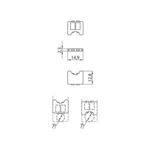 Kabelový zámek pro adaptér 9009, přípojnice STUCCHI, černá, bílá, šedá small 1