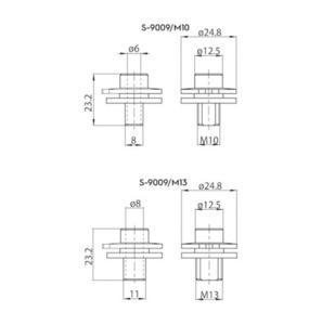 Konektor ALU M13 pro adaptéry 9009 a S-9000 / M, přípojnice STUCCHI small 1