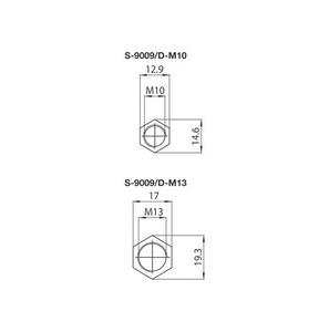 Kryt pro přípojnice S-9009 / M10, STUCCHI small 1