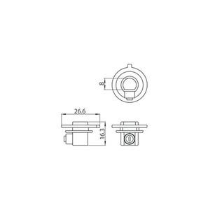 Plastová spojka s pojistným šroubem pro adaptéry 9009, přípojnice STUCCHI small 1