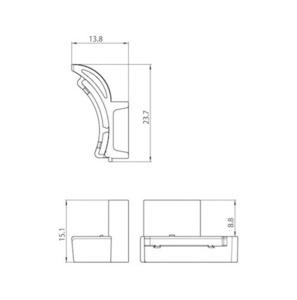 Adaptér Carter 9209 IP40, přípojnice STUCCHI, bílá, šedá, černá small 1