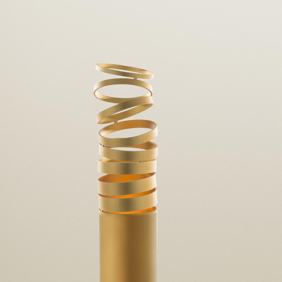 Stojací lampa DECOMPOSE zlatá Led