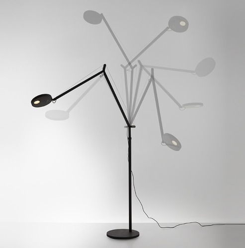 Stojací lampa pro čtení Artemide DEMETRA Antracyt 3000K / 2700K
