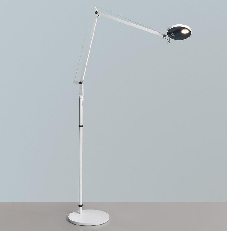 Stojací lampa pro čtení Artemide DEMETRA bílá 3000K / 2700K