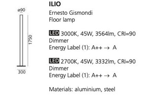Stojací lampa Artemide ILIO modrá 3000K / 2700K small 1