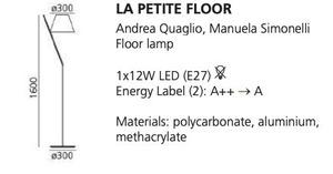 Stojací lampa Artemide LA PETITE bílá small 1