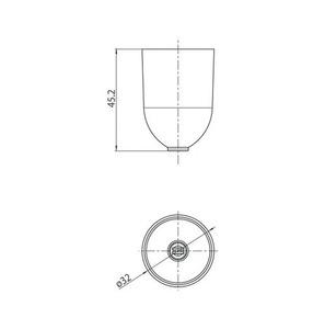Kryt kabelu s průměrem. 1,5 mm, STUCCH, bílá, černá, šedá small 1