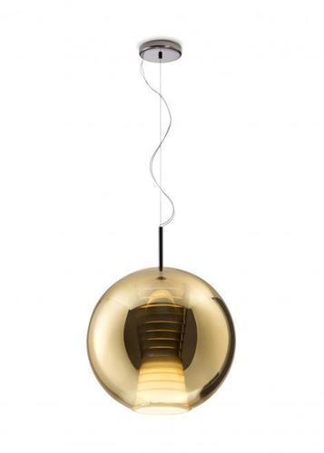Závěsná svítilna FABBIAN Beluga ROYAL GOLD D57A5512 (VELKÁ - 40cm)