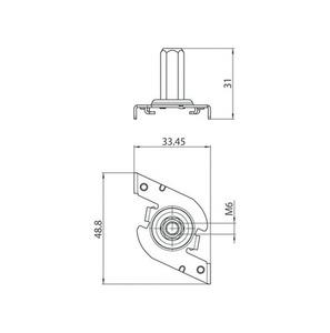 Rychlá montážní konzola M6, přípojnice STUCCHI, ocel, bílá, černá, šedá small 1