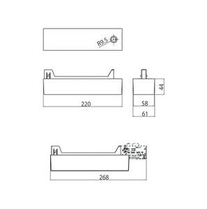 Napájecí skříň pro asymetrický adaptér 9209, LED, přípojnice STUCCHI, bílá, černá small 1