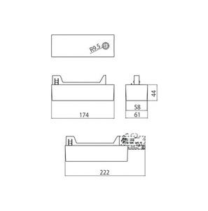 Napájecí skříň pro adaptér 9209 LED, přípojnice STUCCHI, bílá, černá small 1