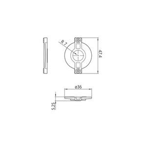 Kryt zámku S-9209-BD-xx, přípojnice STUCCHI, polykarbonát, bílá, černá small 1