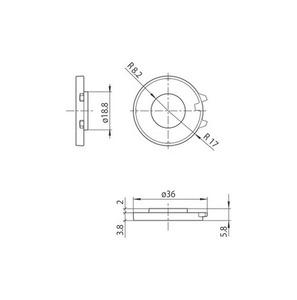 Blokování pro S-9209-BD / M13, zásuvku M13, přípojnice STUCCHI small 1