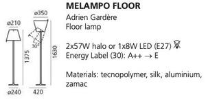 Stojací lampa Artemide MELAMPO přírodní hnědá small 1