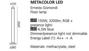 Stojací lampa Artemide METACOLOR LED RGB small 1