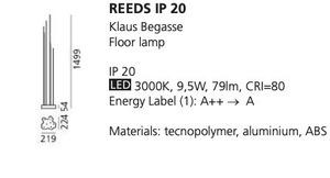 Stojací lampa Artemide REEDS IP20 small 1