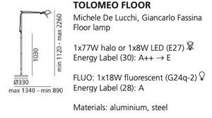 Artemide Tolomeo Aluminium A001000 stojací lampa small 1
