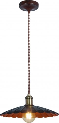Metalowa lampa sufitowa herbert czarno rdzawa l