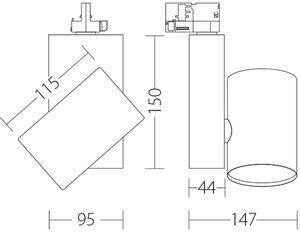 KOR Quattrobi 17W 3000K CRI 93 reflektor kompatibilní s kmeny Stucchi small 1
