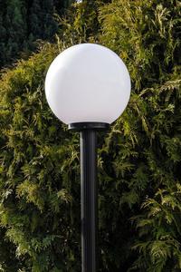 Zahradní lampa stojící Měsíční lampa bílá 20 cm E27 černá sloupek 100 cm small 2