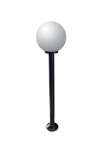 Zahradní lampa stojící Měsíční lampa bílá 25 cm E27 černá tyč 100 cm