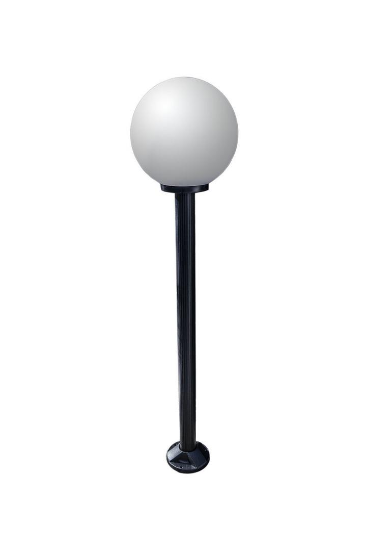 Zahradní lampa stojící Měsíční lampa bílá 40 cm E27 černá tyč 100 cm