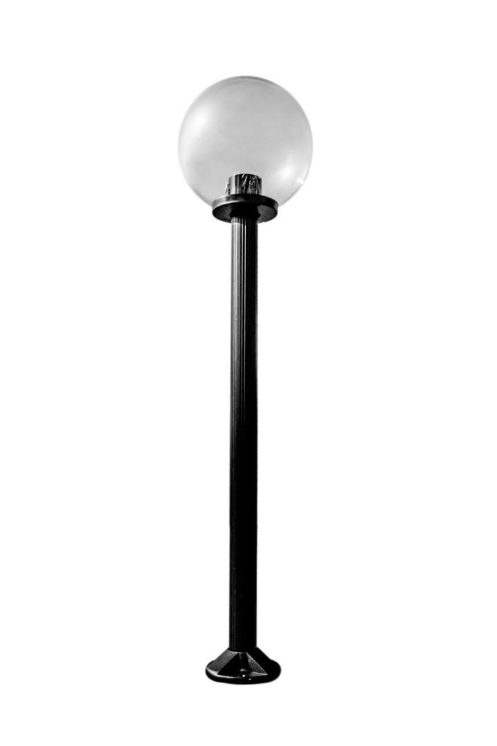 Zahradní lampa stojící Měsíc transparentní lampa 20 cm E27 černá tyč 100 cm