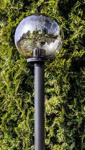 Zahradní lampa stojící Měsíční lampa uzená 25 cm černá černá E27 sloupek 100 cm small 1