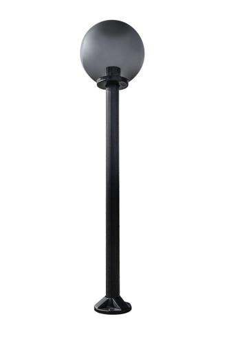 Zahradní lampa stojící Měsíční lampa uzená 30 cm E27 černá sloupek 100 cm