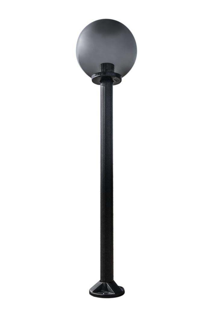 Zahradní lampa stojící Měsíční lampa uzená 50 cm E27 černá sloupek 100 cm