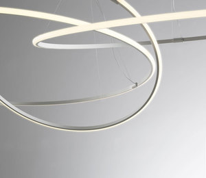 Závěsná lampa Fabbian Olympic F45 45W 60,2cm 3000K - bílá - F45A0701 small 8