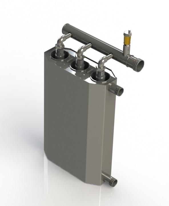 Indukční kotel, 7 kW, pro vytápění povrchu 120m² - 140m²